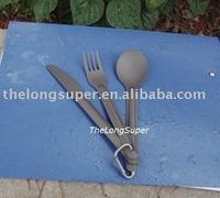Titanium outdoors goods--Titanium Flatwares--Titanium Flatware set 3 pcs  (A151)