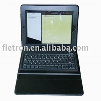 Bluetooth Keyboard for iPad3 with Leather Case