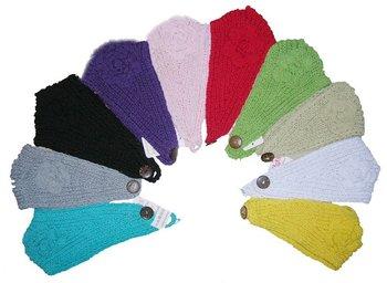 Handmade Newest Knit Headwrap crochet flower Headband 100%cotton