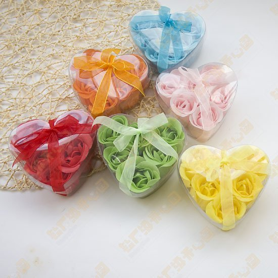6pcs/box Soap Flower Soaps Rose Soap Craft soap flower 600pcs(6pcs=1box)(China (Mainland))