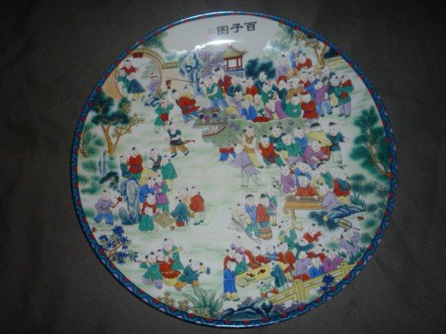 Prato de porcelana da dinastia Qing Rare Oriental natal grátis frete(China (Mainland))