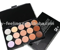 Free shipping! Wholesale! Pro 15 Color Makeup face Concealer sunscreen cream cosmetics palette Dropshipping!(China (Mainland))