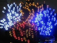 60white/bule Mixed Wholesale Mini solar energy LED Christmas lights 33' string 20pcs/lot