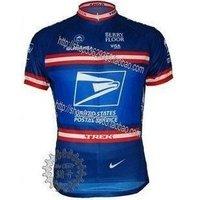 Free Shipping!! 2010 USP CYCLING Short sleeve JERSEY BLUE