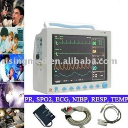 12.1 inch Multi-parameter patient Monitor New ICU Patient Monitor ECG NIBP PR Spo2 Temp Resp(China (Mainland))
