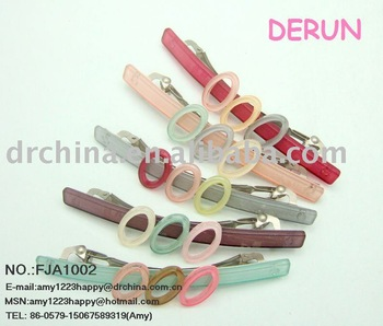 FASHION LADY'S ACRYLIC HAIR CLAMPS