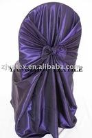 free shipping taffeta purple self -tie chair cover/chair bag/pillowcase chair cover