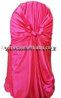 free shipping taffeta fuchsia  self -tie chair cover/chair bag/pillowcase chair cover