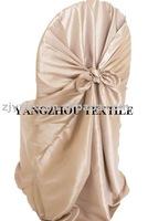free shipping taffeta champange self -tie chair cover/chair bag/pillowcase chair cover