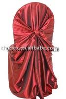 free shipping taffeta burgundy self -tie chair cover/chair bag/pillowcase chair cover