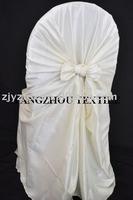 free shipping taffeta ivory self -tie chair cover/chair bag/pillowcase chair cover
