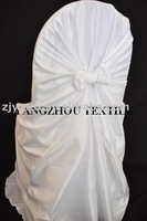 free shipping taffeta white  self -tie chair cover/chair bag/pillowcase chair cover