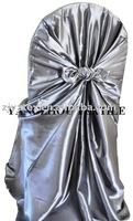 free shipping taffeta silver  self -tie chair cover/chair bag/pillowcase chair cover