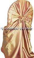 free shipping taffeta gold self -tie chair cover/chair bag/pillowcase chair cover
