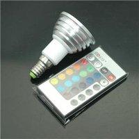 new 3W E14 Remote Control LED Bulb Light 16 Color 85V-240V