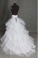 2011 White Tulle Train Petticoat Bridal Gown Crinoline Petticoat Slip+FREE SHIPPING