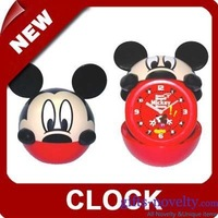 10pcs/lot Mickey cartoon replicating Alarm clock Folding clock/novelty alarm clock+Worldwide  Free Shipping