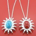 free shipping 925 silver turquoise+coral necklaces set,925 sterling silver jewelry,wholesale fashion jewelry NY349