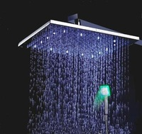 Chrome Wall-in LED Rainfall Shower - Free Shipping(L-4209-014-without faucet)