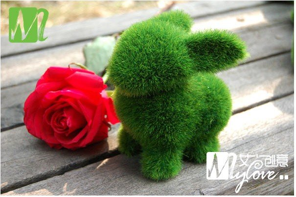 Free Shipping Cute little animal artificial turf place adorn/can alleviate eyestrain paragraph 4 of optional(China (Mainland))