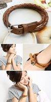 B45 yiwu han2 ban3 Korea adorn article female wholesale men and women spend leather string bracelet/woven bracelet