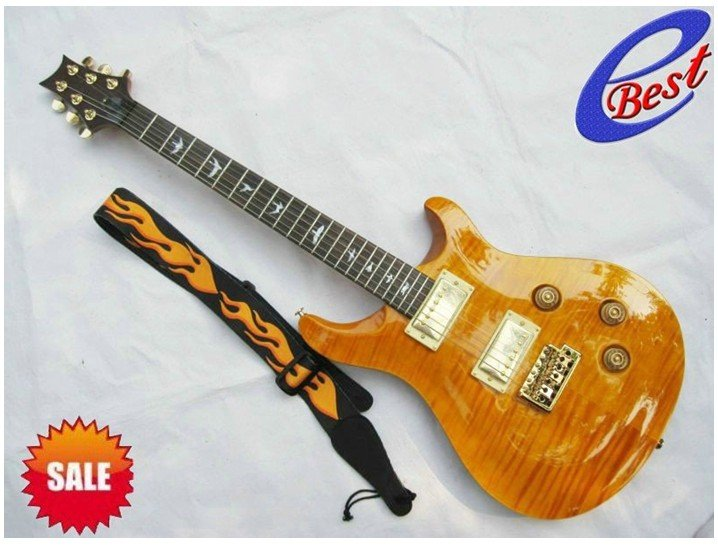 Free Shipping Hot selling!! Reed PRS custom 22 trans yellow Electric guitar(China (Mainland))