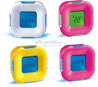 Best ITEM 20 Pcs/Lot Flashing Four Side Mini Alarm Clock +Worldwide  free shipping