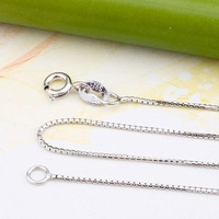 Wholesale Real Pure 925 sterling silver necklace, 925 silver chain necklace SC003w