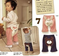 Wholesale- CUTE Infant Baby pants thickening TrousPP pants Toddler Tights pants --WL799