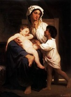 Free shippingreproduction classical artists Bouguereau Hand painted oil painting decoration painting P59
