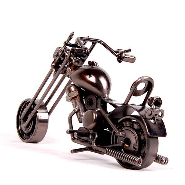 Novo modelo chegada da motocicleta artesanato de ferro artigos de decoração acessórios presentes personalizados ferro forjado M33 grátis frete(China (Mainland))