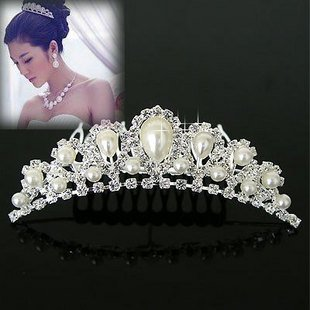 2015 new 1PC wholesale free shipping  Fashion noble pear bridal crown wedding tiaras acessories