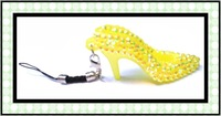 Fast Free shipping ,new arrival hot selling shoe keychain ,fashion accessory yellow and balck cord ,bigger 6cm*3.0cm 20pcs/lot