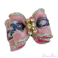 Pet Dog Accessories The Most Popular Diamond Pink Ribbon Bow DB020. Pet Jewelry / Pet products / Handmade / EMS FREE!