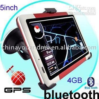 3pcs 5 Inch GPS Touch Screen car GPS Navigator bluetooth /FM Transmitter Portable Sport Style 4GB NEW MAP