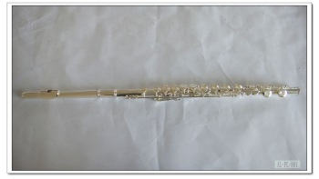 Professional good quality  16-hole Close Keys Silver Flute with Italian pads,free shipping