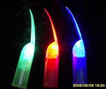 LED flashing light led fingernail light, finger lamp,flashing finger light ring  wholesale retail