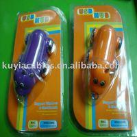 10PCS/LOT!!!  Cute Mini COW Like 4-Ports Hi-Speed USB HUB +Free Shipping ( different colors)
