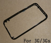Metal Chrome Bezel Frame Housing for 3G 3GS Black Color