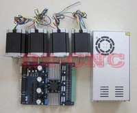 4Aixs Nema 23 Stepper Motor 425oz-in CNC Router or Mill drive board