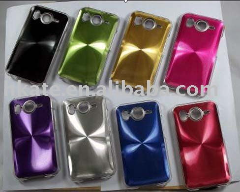 8 X color best shine aluminium hard case for New HTC Desire mobile HC001(Hong Kong)