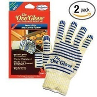 5pack/lot The Ove Glove Oven Mitt Hot Surface Handler Gloves Now with Non-Slip Silicone Grip as seen on tv