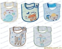 100pcs/lot Babies Cotton Carton Bibs Baby Feeding Carter's Infants Waterproof Bib Neck Wears