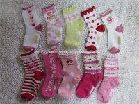 10 designs 30pairs/lot Baby floral socks infant cotton socks/Girl's flower Socks