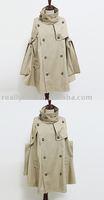 Free Shipping/Hot Sale Women's Fashion Poncho Coat Hoody, Ladies' Noble Elegant Coat