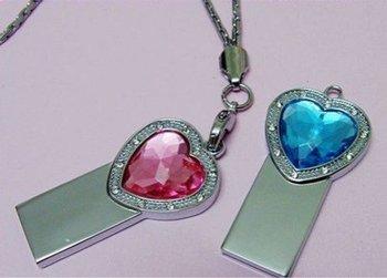 heart-shaped jewelry U disk 16G