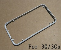lots of 2 pcs Metal Chrome Bezel Frame Housing for 3G 3GS Black Color