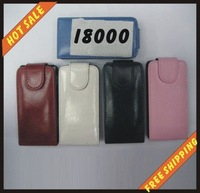 Free shipping --New high quality more colours leather case mobile phone cellphone for SAMSUNG I8000 with vision package