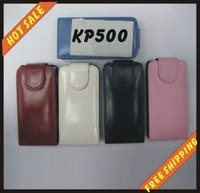 Free shipping --New high quality more colours leather case mobile phone cellphone for LG KP500 with vision package