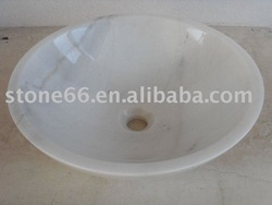 China Polished White Marble Sink(China (Mainland))